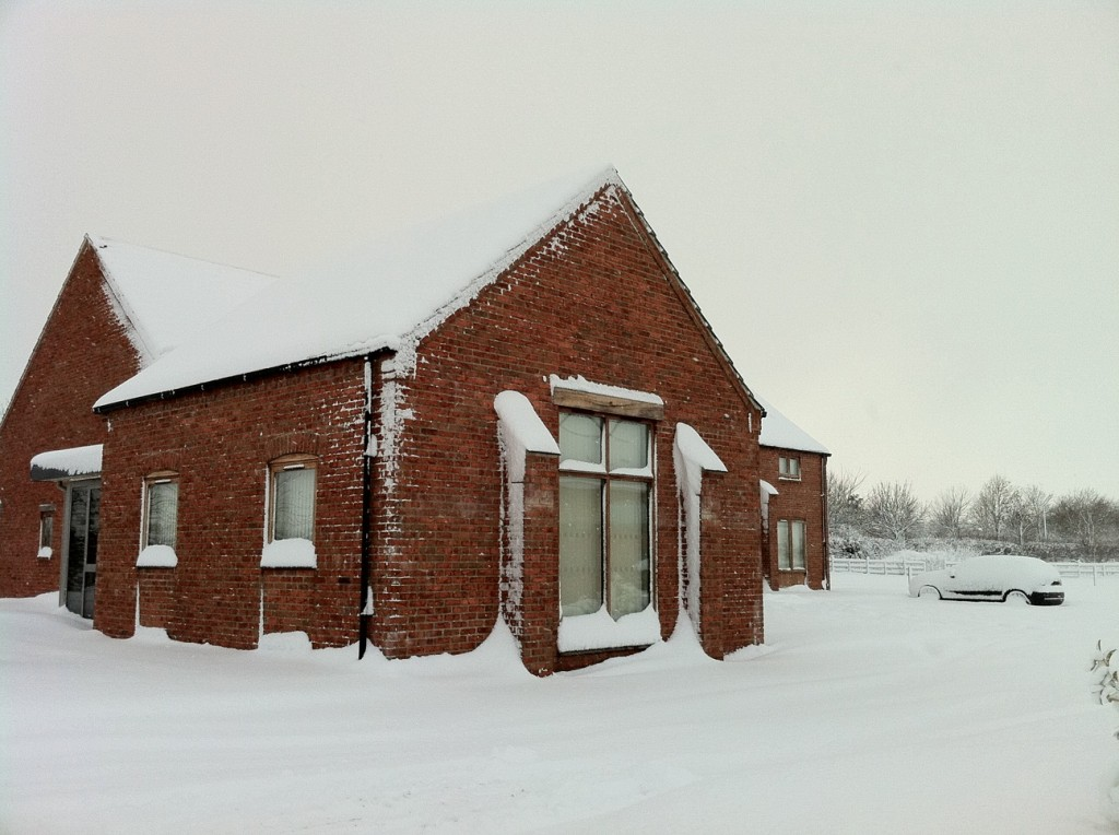 Brunel House in the snow